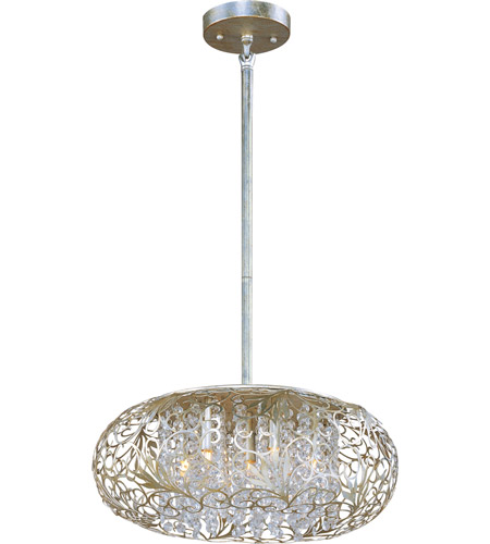 Maxim Lighting Arabesque 7 Light Pendant in Golden Silver 24154BCGS