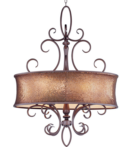Maxim Lighting Alexander 6 Light Pendant in Umber Bronze 24165SBUB photo