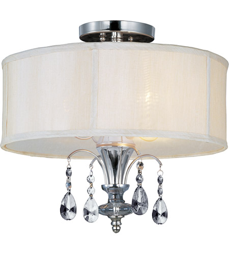 Maxim 24301CLBSPN Montgomery 3 Light 17 inch Polished Nickel Semi Flush Mount Ceiling Light photo