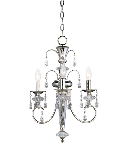 Maxim 24303CLPN Montgomery 3 Light 16 inch Polished Nickel Mini Chandelier Ceiling Light photo