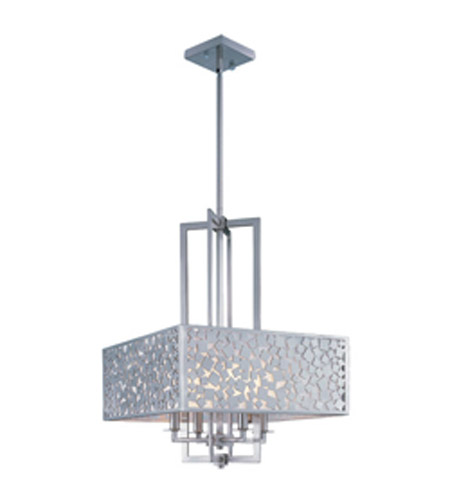 Maxim lighting matrix 4 light single pendant in satin nickel 24334ftsn photo