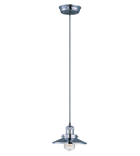 Maxim 25020PN Mini Hi-Bay 1 Light 8 inch Polished Nickel Single Pendant Ceiling Light in Without Bulb photo