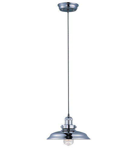 Maxim 25022PN Mini Hi-Bay 1 Light 11 inch Polished Nickel Single Pendant Ceiling Light in Without Bulb photo