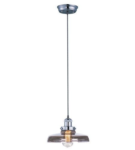 Maxim 25027MSKPN Mini Hi-Bay 1 Light 10 inch Polished Nickel Single Pendant Ceiling Light in Mirror Smoke, Without Bulb photo
