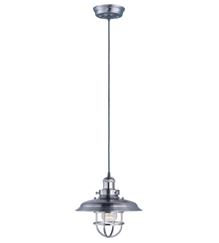 Maxim 25031SN Mini Hi-Bay 1 Light 11 inch Satin Nickel Single Pendant Ceiling Light in Without Bulb photo