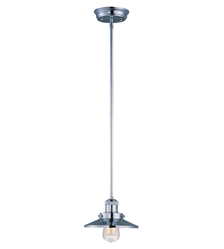 Maxim 25040PN Mini Hi-Bay 1 Light 6 inch Polished Nickel Single Pendant Ceiling Light in Without Bulb photo