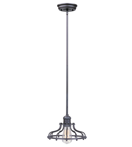 Maxim 25044BZ Mini Hi-Bay 1 Light 10 inch Bronze Single Pendant Ceiling Light in Without Bulb photo