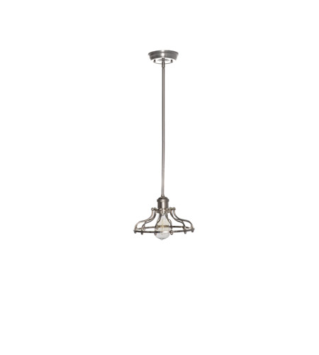 Maxim 25044PN/BUI Mini Hi-Bay 1 Light 10 inch Polished Nickel Single Pendant Ceiling Light in With Bulb photo