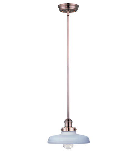 Maxim Lighting Mini Hi-Bay 1 Light Single Pendant in Antique Copper 25047SWACP photo