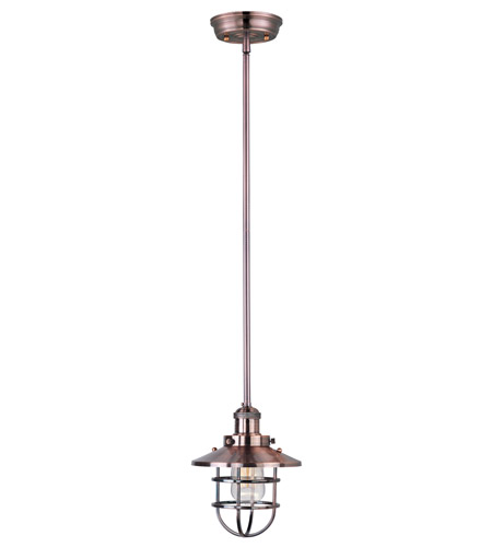 Maxim 25050ACP Mini Hi-Bay 1 Light 8 inch Antique Copper Single Pendant Ceiling Light in Without Bulb photo