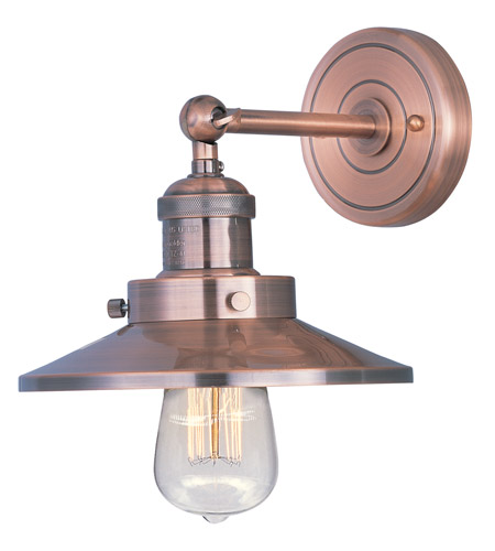 Maxim Lighting Mini Hi-Bay 1 Light Wall Sconce in Antique Copper 25060ACP photo