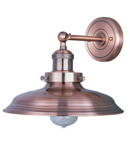 Wall Sconces Without Lights : Maxim 25062ACP Mini Hi-Bay 1 Light 11 inch Antique Copper Wall Sconce Wall Light in Without Bulb
