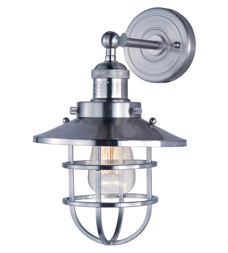Maxim 25070SN Mini Hi-Bay 1 Light 8 inch Satin Nickel Wall Sconce Wall Light in Without Bulb photo