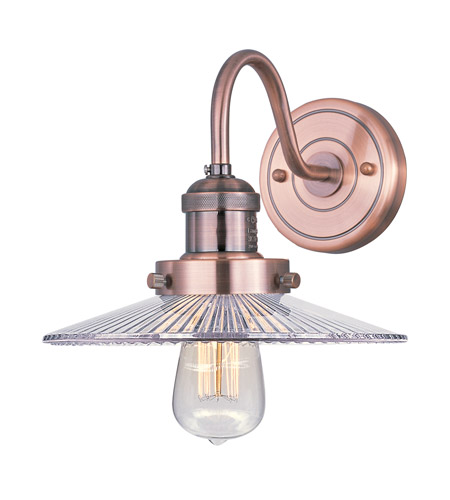 Maxim 25085CLACP Mini Hi-Bay 1 Light 10 inch Antique Copper Wall Sconce Wall Light in Without Bulb