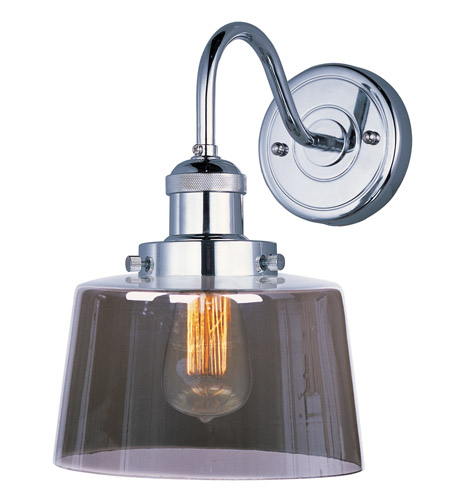 Maxim 25089MSKPN/BUI Mini Hi-Bay 1 Light 9 inch Polished Nickel Wall Sconce Wall Light in With Bulb photo