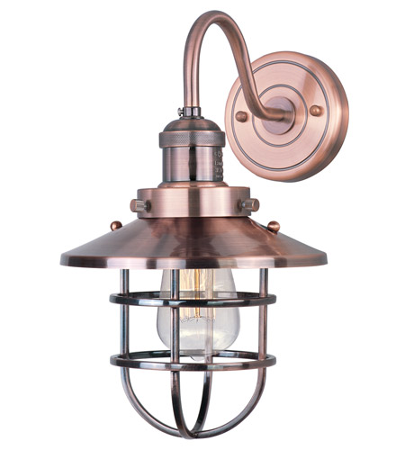 Maxim 25090ACP Mini Hi-Bay 1 Light 8 inch Antique Copper Wall Sconce Wall Light in Without Bulb photo