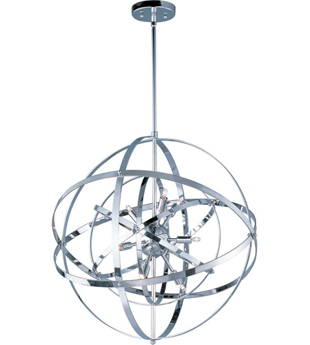 Maxim Lighting Sputnik 9 Light Single Pendant in Polished Chrome 25133PC photo