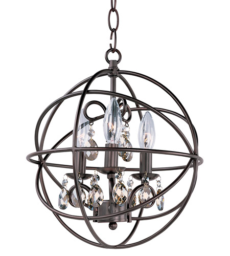 Maxim 25140OI Orbit 3 Light 12 inch Oil Rubbed Bronze Chandelier Ceiling Light photo