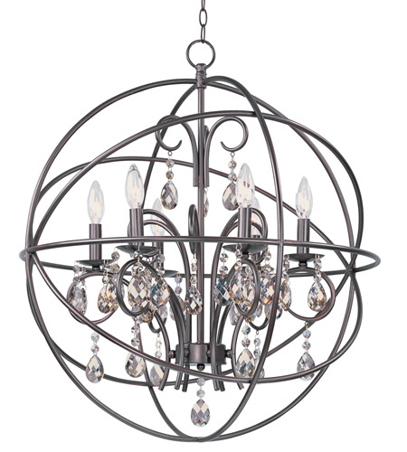 Maxim 25144oi Orbit 6 Light 25 Inch Oil Rubbed Bronze Chandelier Ceiling
