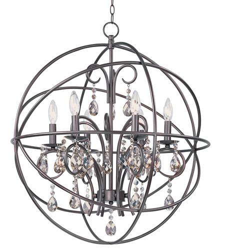 maxim 25144oi orbit 6 light 25 inch oil rubbed bronze chandelier ceiling light. Black Bedroom Furniture Sets. Home Design Ideas