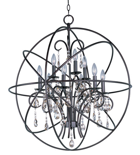 Maxim 25145OI Orbit 9 Light 30 inch Oil Rubbed Bronze Single-Tier Chandelier Ceiling Light photo