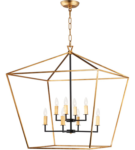 Maxim 25154GLTXB Abode 8 Light 33 inch Gold Leaf and Textured Black Multi-Tier Chandelier Ceiling Light photo