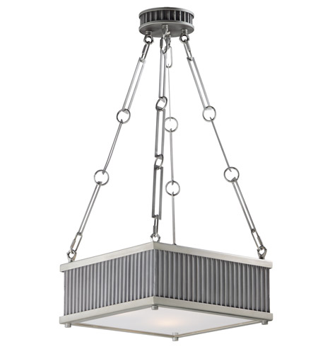 Maxim 26013WZSN Ruffle 3 Light 13 inch Weathered Zinc and Satin Nickel Single Pendant Ceiling Light photo thumbnail