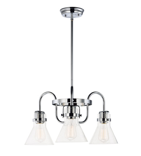Maxim 26116CDPC Seafarer 3 Light 22 inch Polished Chrome Single-Tier Chandelier Ceiling Light in Without Bulb photo