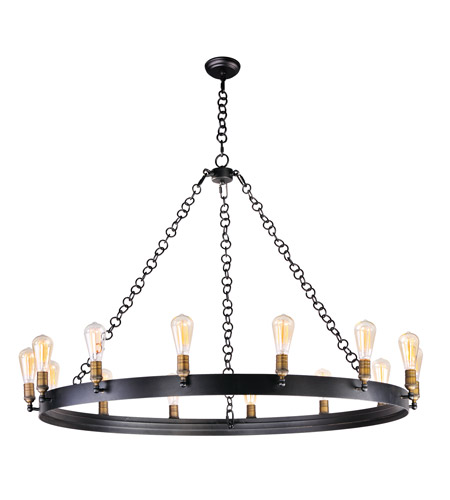 Maxim 26276BKNAB/BUI Noble 14 Light 50 inch Black/Natural Aged Brass Chandelier Ceiling Light in With Bulb photo