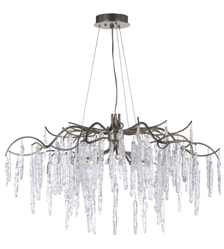 Maxim 26284ICSG Willow 8 Light 35 Inch Silver Gold Single Tier Chandelier  Ceiling Light