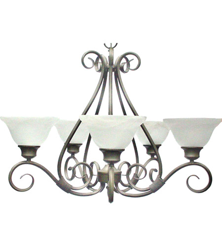 Maxim Lighting Pacific 5 Light Single Tier Chandelier in Pewter 2655MRPE photo