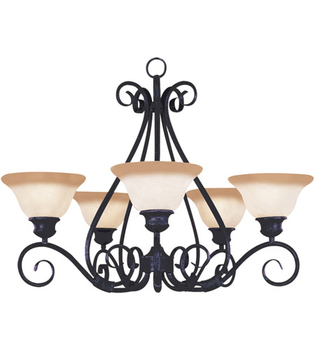 Maxim 2655WSKB Pacific 5 Light 29 inch Kentucky Bronze Single Tier Chandelier Ceiling Light in Wilshire photo