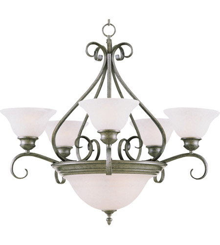 Maxim Lighting Pacific 7 Light Multi-Tier Chandelier in Pewter 2656MRPE photo