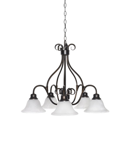 Maxim 2657MRKB Pacific 5 Light 26 inch Kentucky Bronze Down Light Chandelier Ceiling Light in Marble photo