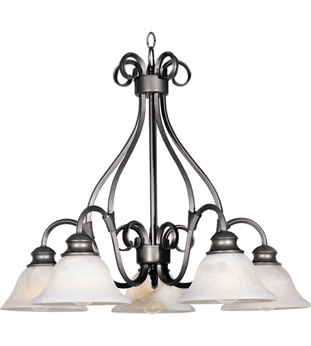 Maxim lighting pacific 5 light down light chandelier in pewter 2657mrpe mozeypictures Gallery