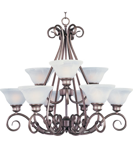 Maxim Lighting Pacific 9 Light Multi-Tier Chandelier in Pewter 2658MRPE photo