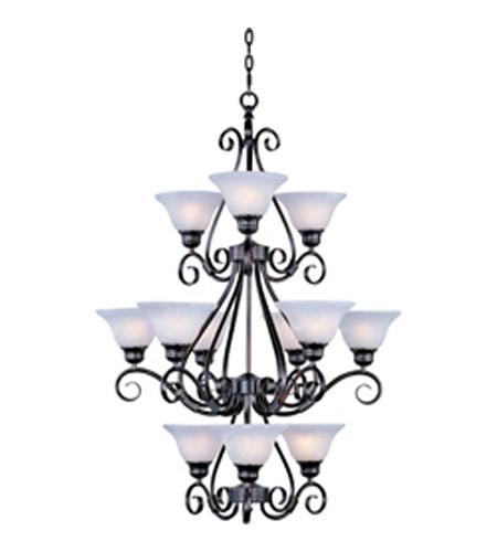 Maxim Lighting Pacific 12 Light Multi-Tier Chandelier in Kentucky Bronze 2659MRKB photo