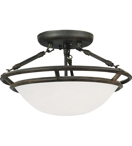 Maxim 2670MRBZ Stratus 3 Light 15 inch Bronze Semi Flush Mount Ceiling Light - Maxim 2670MRBZ Stratus 3 Light 15 Inch Bronze Semi Flush Mount