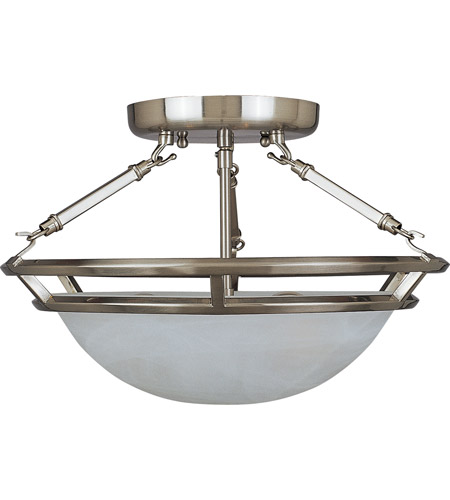 Maxim 2670MRPE Stratus 3 Light 15 inch Pewter Semi Flush Mount Ceiling Light photo