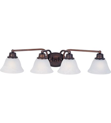 Maxim 2689MROI Malaga 4 Light 29 inch Oil Rubbed Bronze Bath Light Wall Light in Marble photo