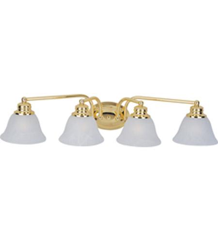 Maxim lighting malaga 4 light bath light in polished brass 2689mrpb aloadofball Image collections