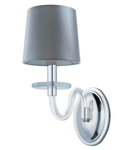 Polished Nickel Clear Glass Wall Sconces