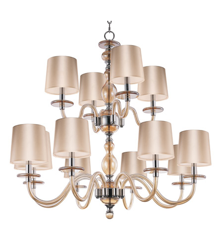Polished Nickel Metal Venezia Chandeliers