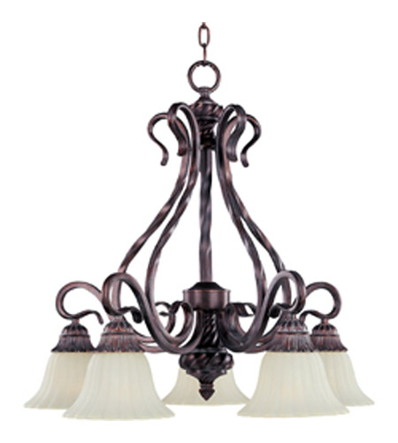 Maxim Lighting Via Roma 5 Light Down Chandelier In Greek Bronze 2773svgb
