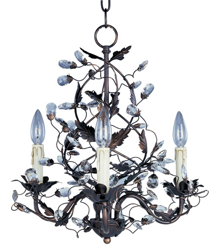 Maxim 2850OI Elegante 3 Light 19 inch Oil Rubbed Bronze Mini Chandelier Ceiling Light  photo