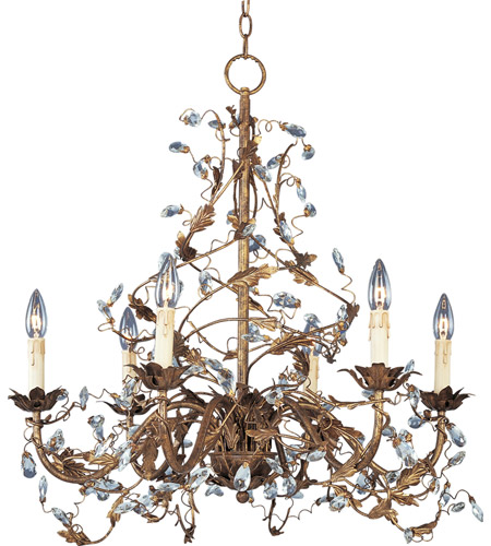 Maxim Lighting Elegante 6 Light Single Tier Chandelier in Etruscan Gold 2851EG photo