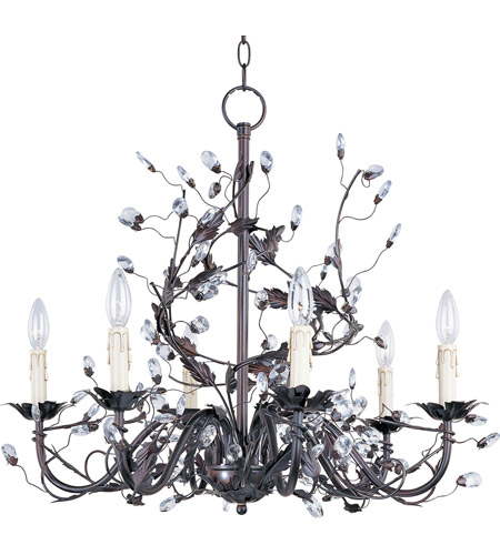 Maxim 2851OI Elegante 6 Light 27 inch Oil Rubbed Bronze Single Tier Chandelier Ceiling Light photo