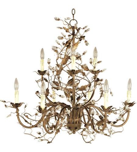 Maxim 2852EG Elegante 9 Light 29 Inch Etruscan Gold Multi Tier Chandelier  Ceiling Light Photo