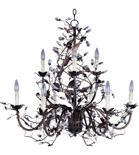 Maxim Lighting Elegante 9 Light Multi-Tier Chandelier in Oil Rubbed Bronze 2852OI photo