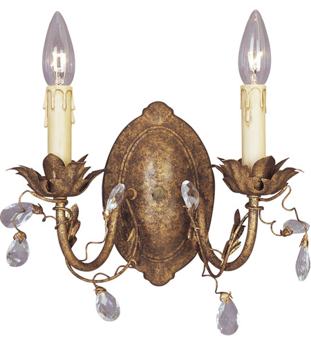 Maxim Lighting Elegante 2 Light Wall Sconce in Etruscan Gold 2857EG photo